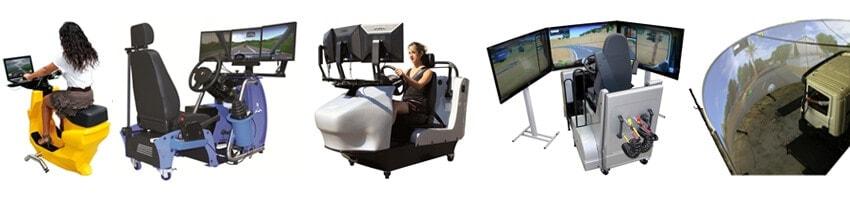 Fahrsimulatoren / Fahrschul-Simulatoren für Motorroller, PKW, LKW, Bus und Feuerwehr