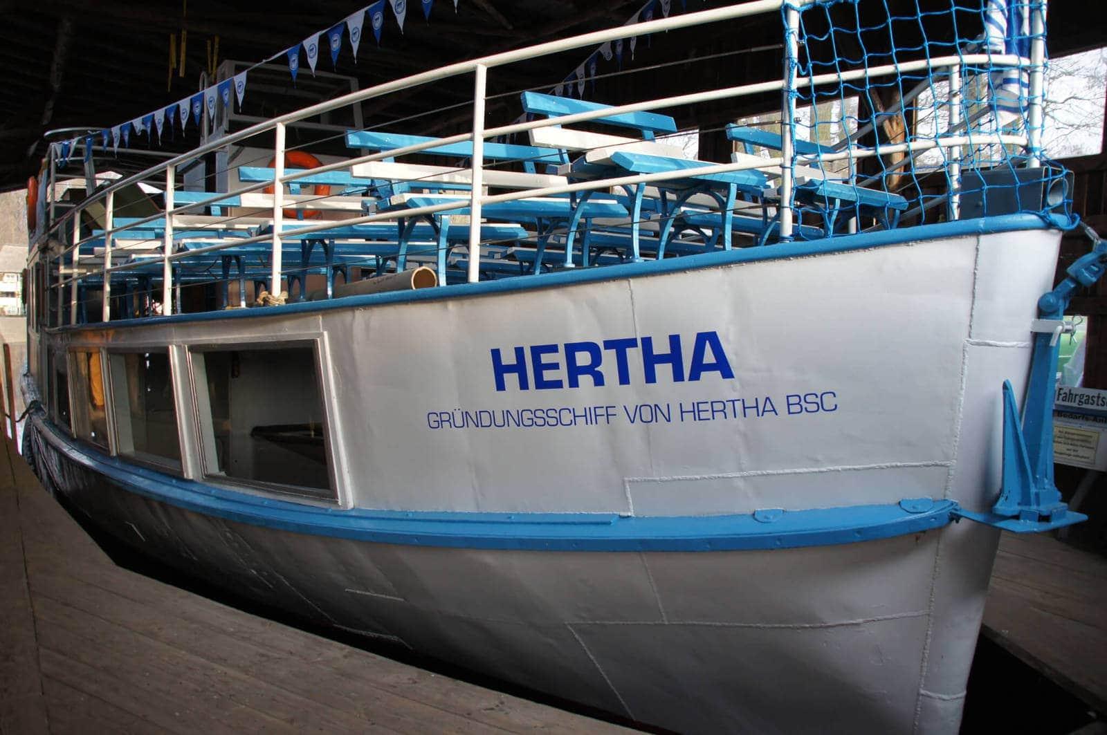rbb-Fernsehen machte vom Hertha-Gründungsschiff Filmaufnahmen für´s zibb-Magazin