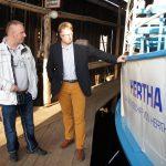 Vorstand Thomas Flemming am Schiff Hertha der Prignitzer Leasing AG