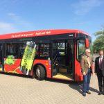 Kreisverkehrsgesellschaft in Pinneberg - neuer Elektrobus