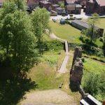Putlitz Blick vom Burgturm auf Wallanlage - Burggraben und Altstadt