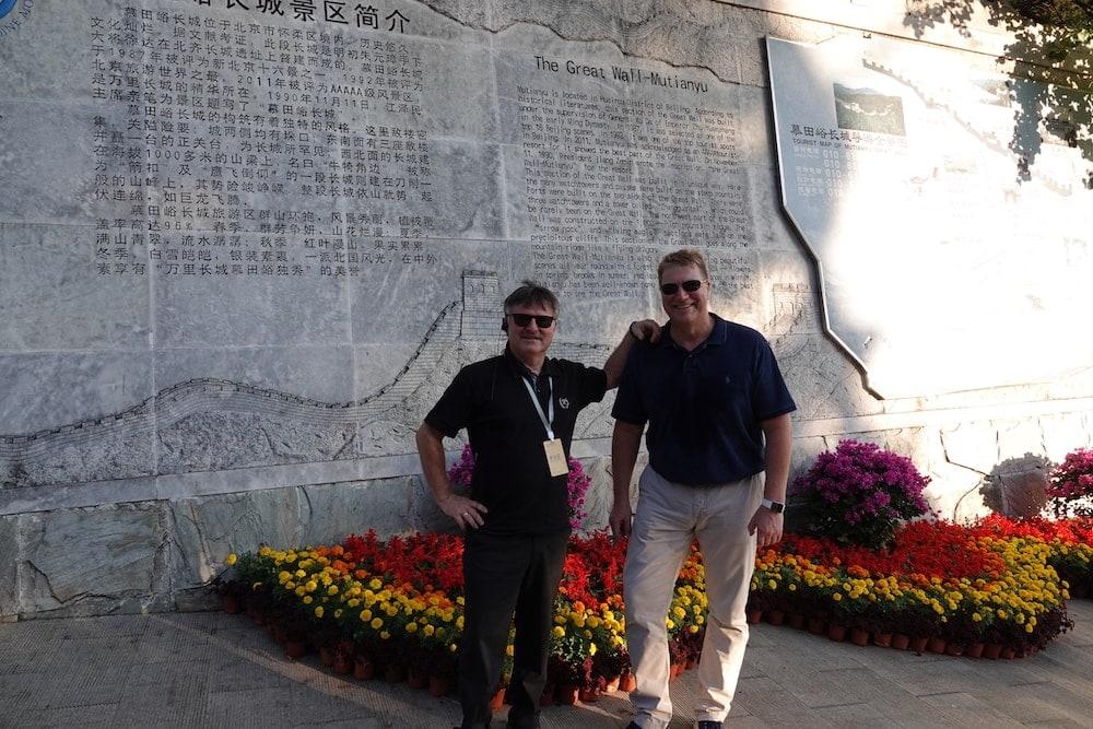 vor dem Anstieg zur Great Wall